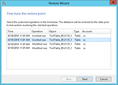 Fine-tune the restore point in Veeam Explorer for Microsoft SQL Server
